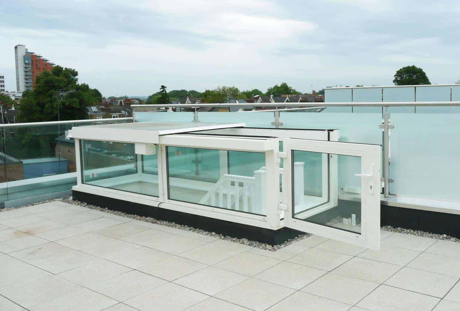 Boxed glazed sliding rooflights