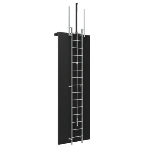Vertical Ladder with Fall Arrest System and Walkthrough 1500 x 1500