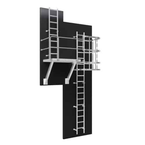 Vertical Ladder with Rest Platform 1500 x 1500